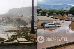 По Греции ударил редкий шторм