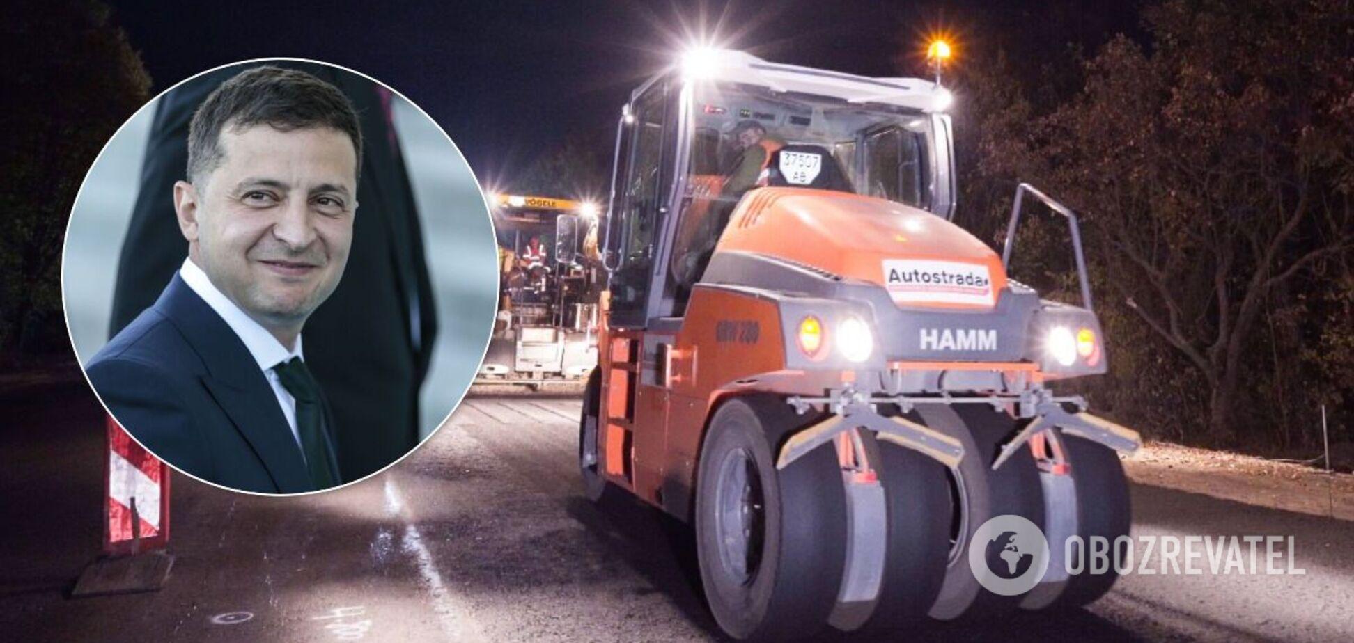 Под Харьковом среди ночи экстренно ремонтировали дорогу к приезду Зеленского