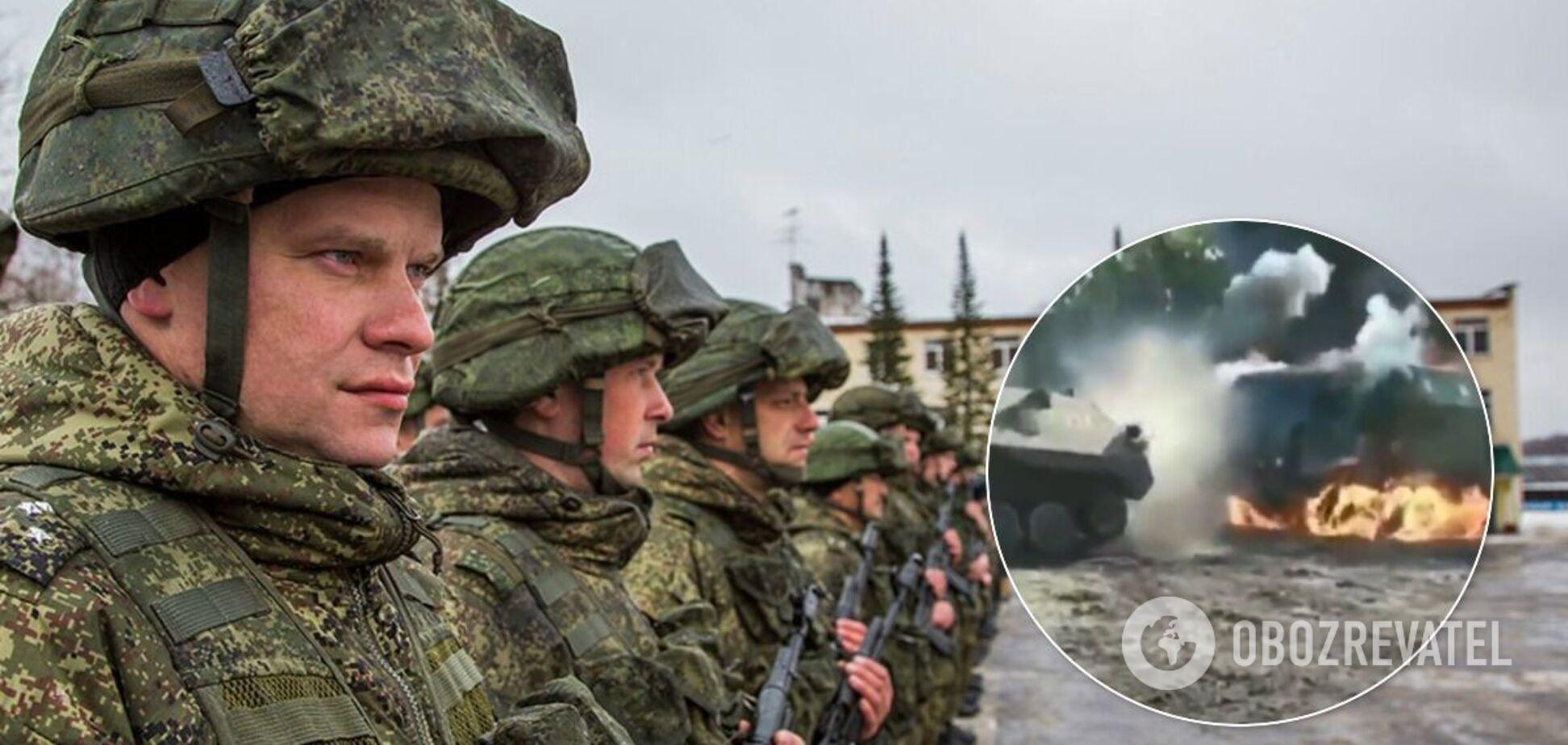 На учениях 'Кавказ-2020' военные РФ сожгли свою технику