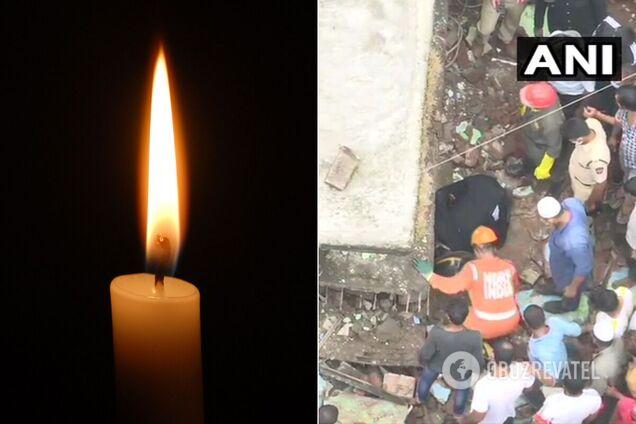 В Индии рухнул жилой дом, погибли 10 человек