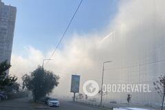 Часть Киева укрыл смог