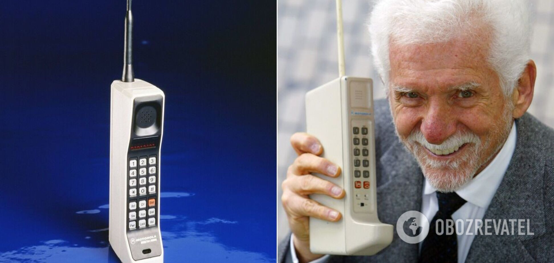 Первый мобильный телефон изобрел сотрудник Motorola Мартин Купер