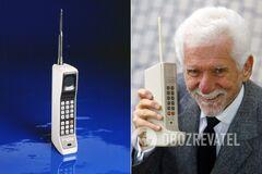 Перший мобільний телефон винайшов співробітник Motorola Мартін Купер