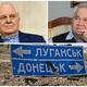 Українські делегати в ТКГ Вітольд Фокін та Леонід Кравчук