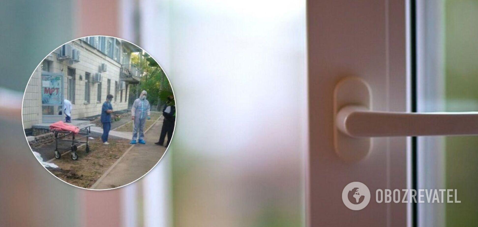 У Києві з вікна лікарні для хворих на COVID-19 вистрибнули два чоловіка. Фото 18+