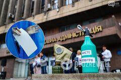 Активисты в Запорожье не смогли объяснить цель своего эко-митинга перед выборами