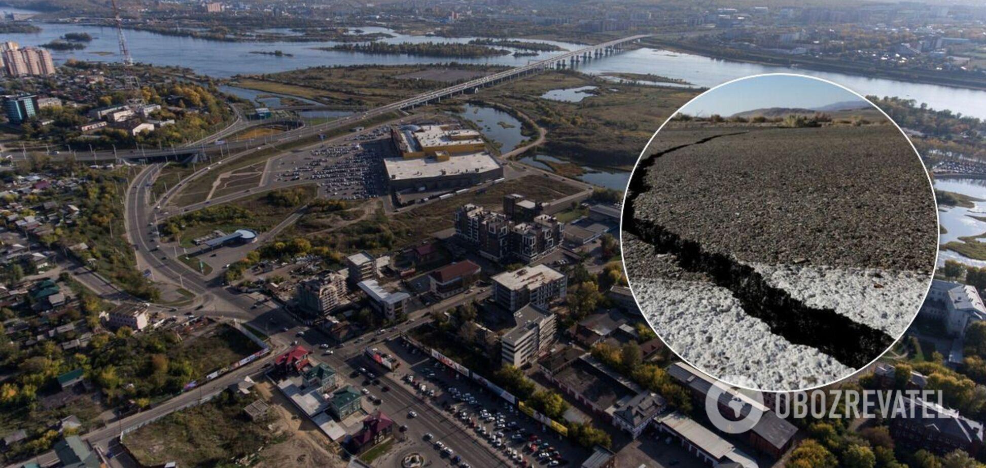 Опубликованы видео разрушений после землетрясения в Иркутске: люди в панике выбегали на улицу