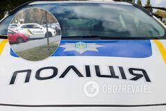 В Харькове заметили Porsche Cayenne с полицейской символикой