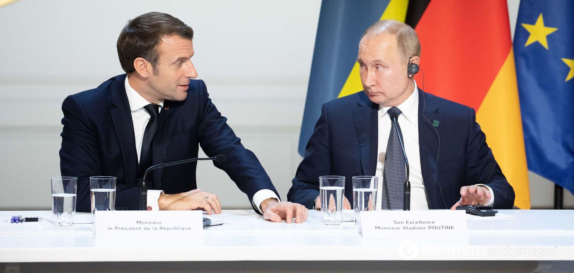 Путін заявив Макрону, що Навальний сам міг прийняти отруту