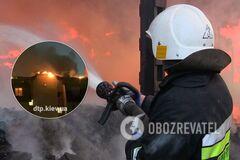 Под Киевом сгорели 6 квартир в новостройке: появилось видео последствий