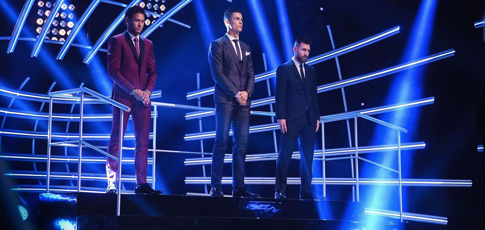Мессі, Роналду і Неймар не ввійшли до трійки найкращих футболістів від УЄФА