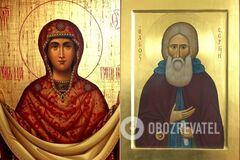 Икона 'Покров Пресвятой Богородицы' / Преподобный Сергий Радонежский