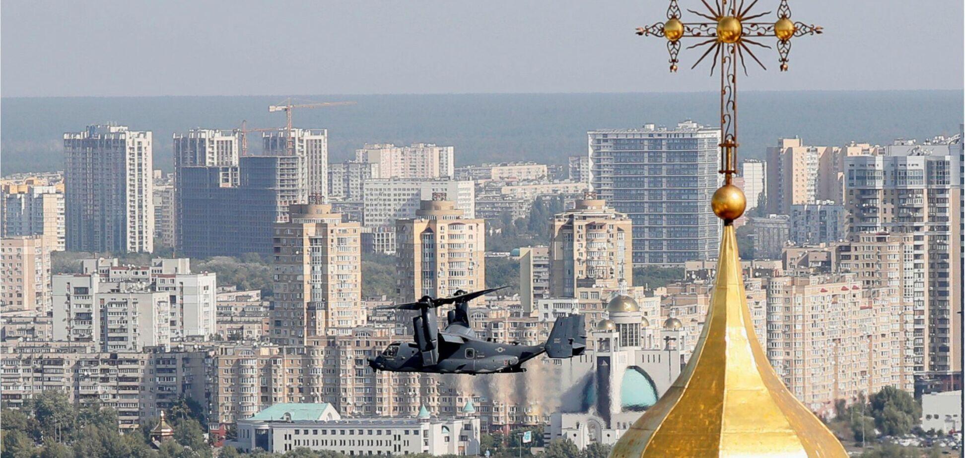 Над Киевом пролетели конвертопланы CV-22B Osprey военно-воздушных сил США
