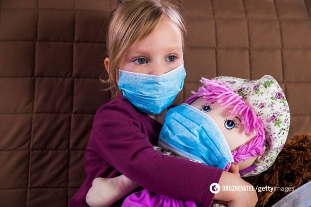 Коронавірус у дітей. Ілюстрація