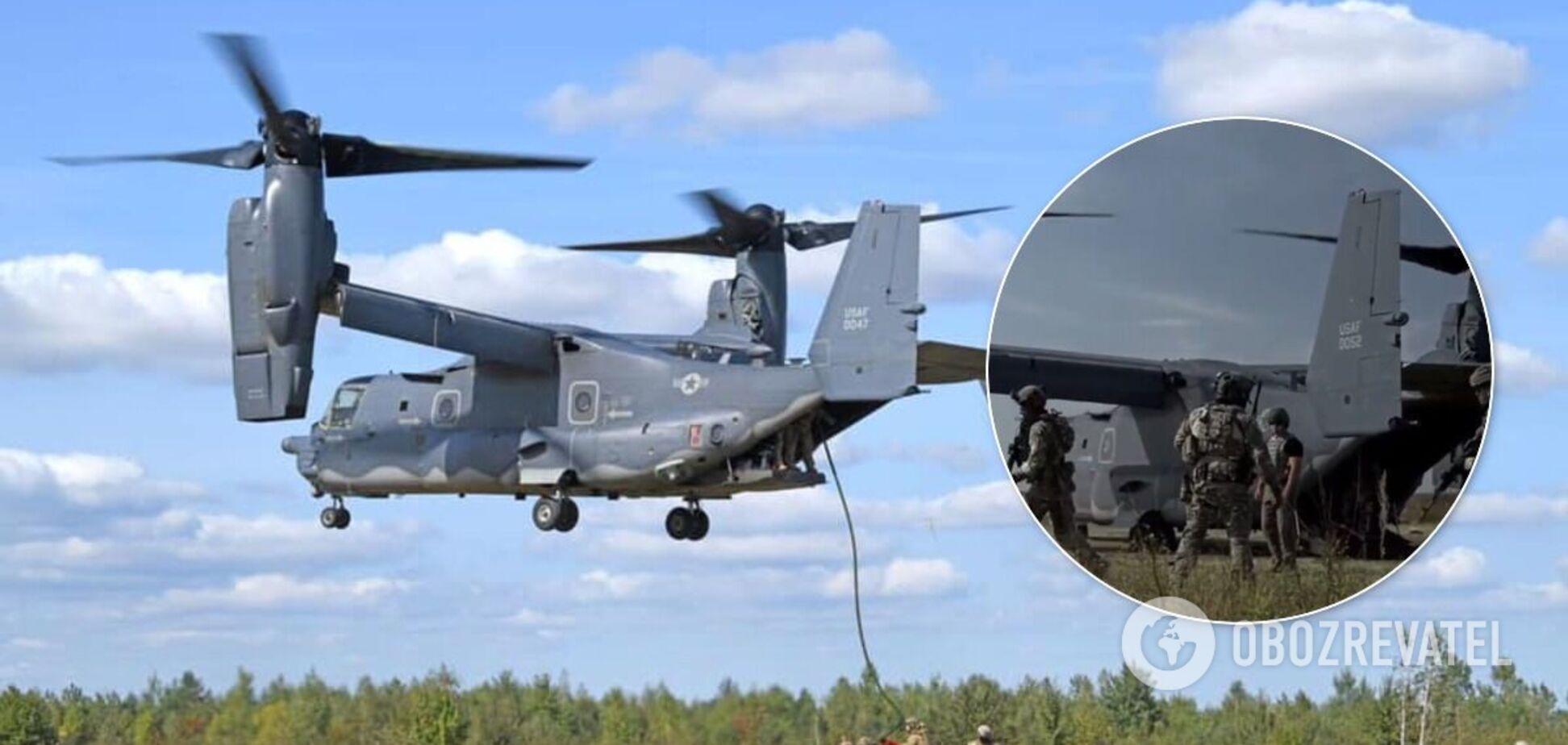 Спецпризначенці ЗСУ показали новий політ на конвертоплані НАТО