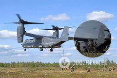 Спецназовцы ВСУ показали новый полет на конвертоплане НАТО