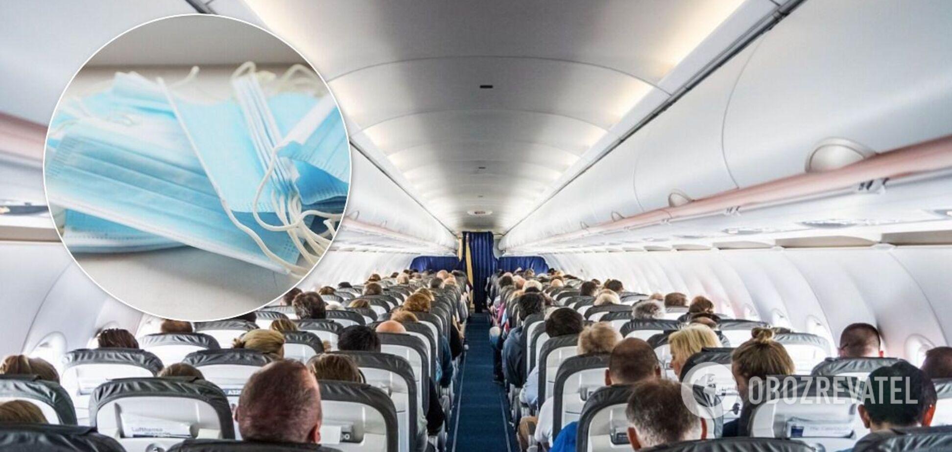Подружжя висадили з літака за відмову надіти маску