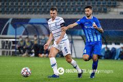 Сергей Сидорчук в матче против 'Гента'