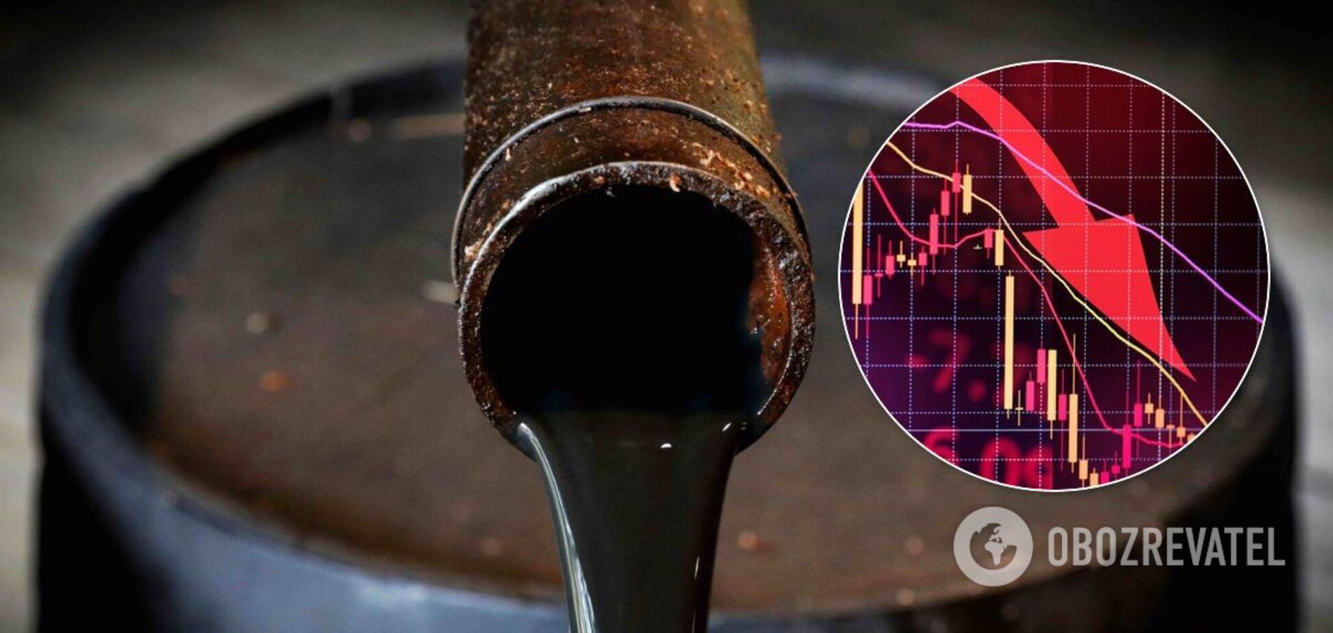Ціни на нафту продовжили падіння: графік