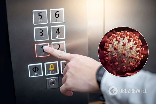 Вчені з'ясували, як довго коронавірус 'живе' в ліфті