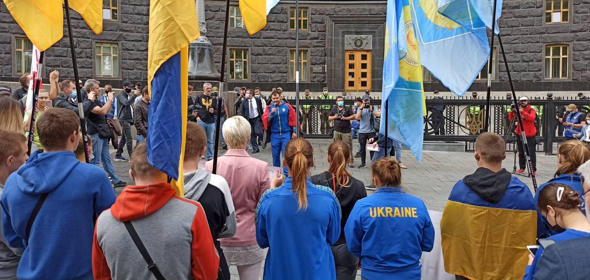 Митинг Олимпийского колледжа под Кабмином