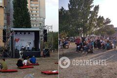 Черкасская 'Батьківщина' устроила концерт в день траура.
