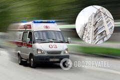 В Днепре 13-летняя девочка впала в кому после падения из многоэтажки. Фото