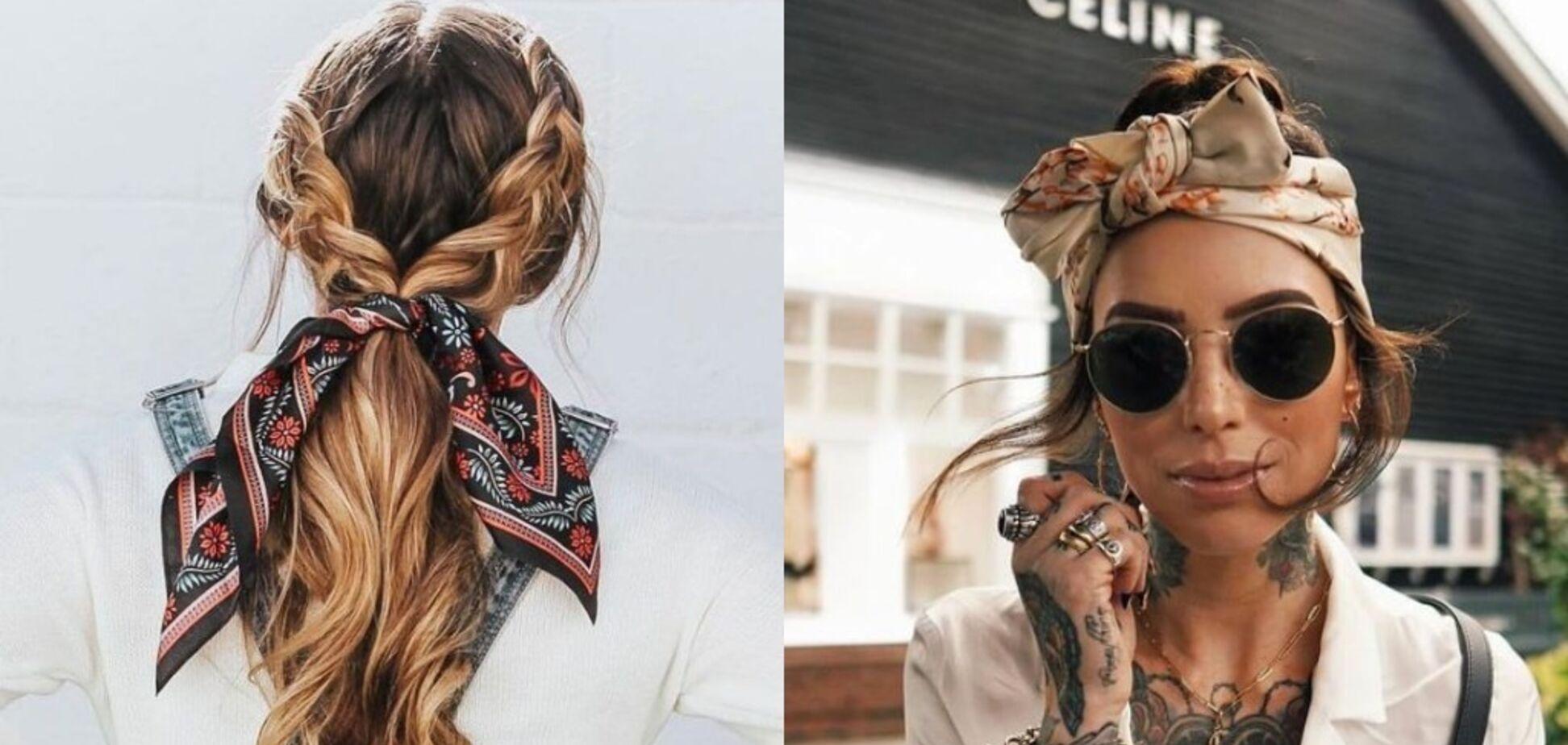 Зачіски з хусткою стали трендом осені 2020: наймодніші варіанти. Фото