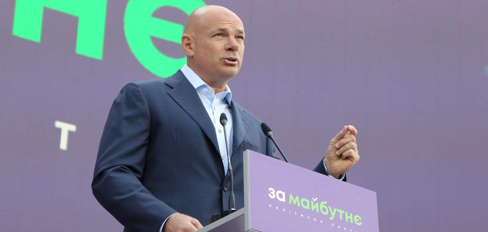 Лидер партии 'ЗА МАЙБУТНЄ' Игорь Палица