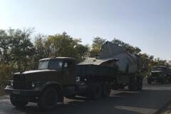 Из Чугуева вывезли обломки потерпевшего крушение Ан-26. Фото и видео