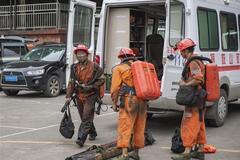 В Китае обвалилась шахта, погибли 16 человек. Фото с места ЧП