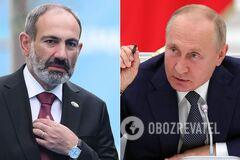 Путин обсудил боевые действия в Карабахе с Пашиняном