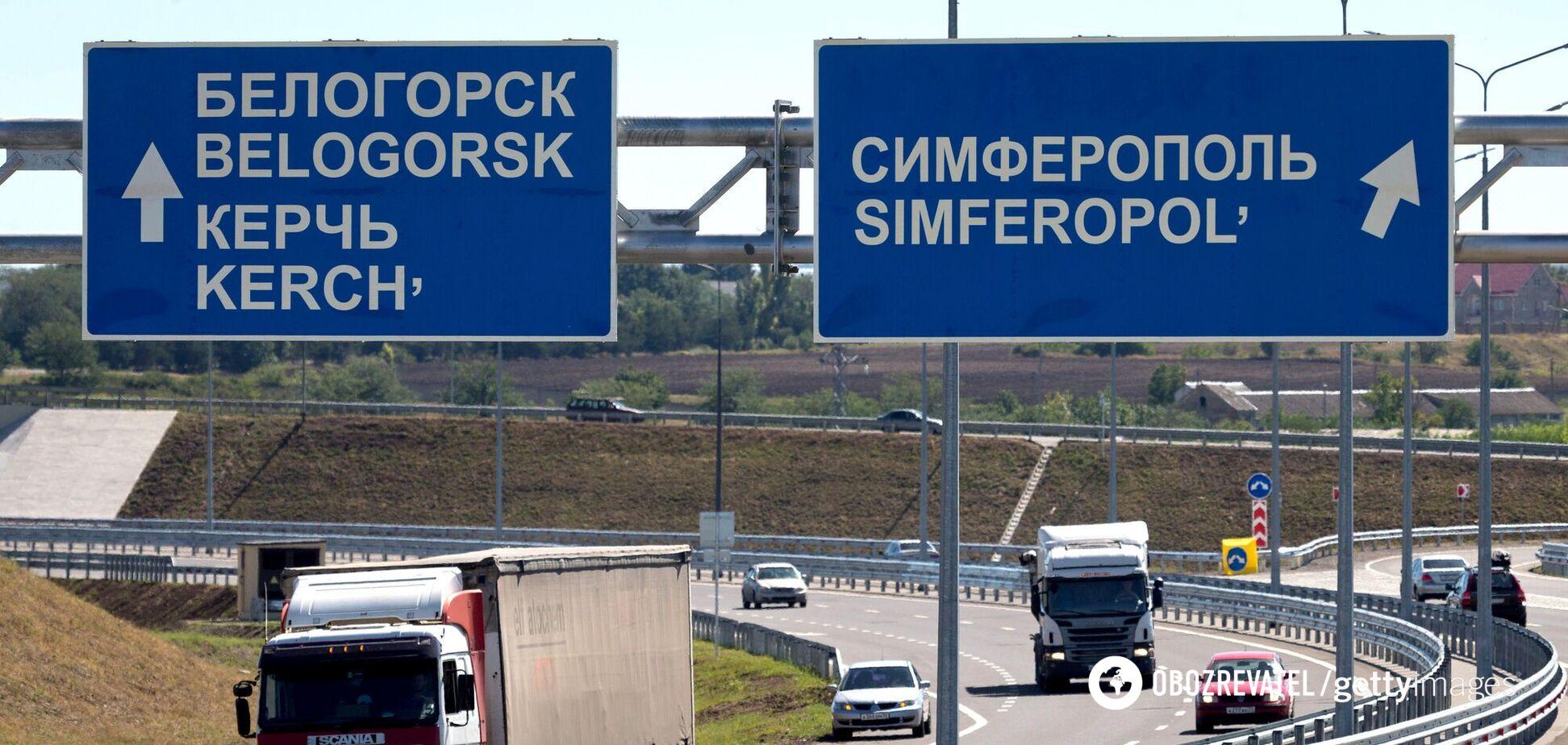 Автострада в оккупированном Крыму