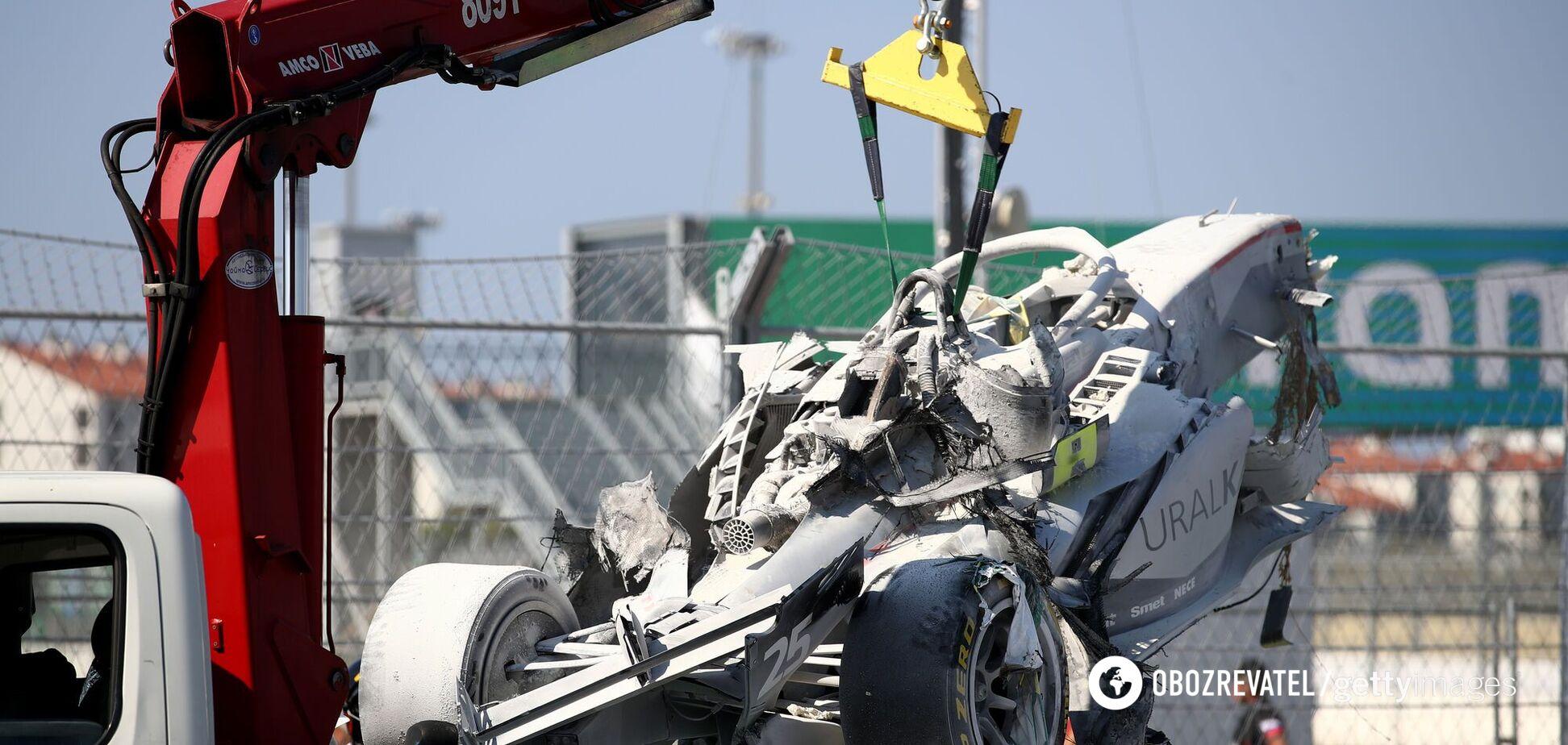 Авария на Гран-при Сочи