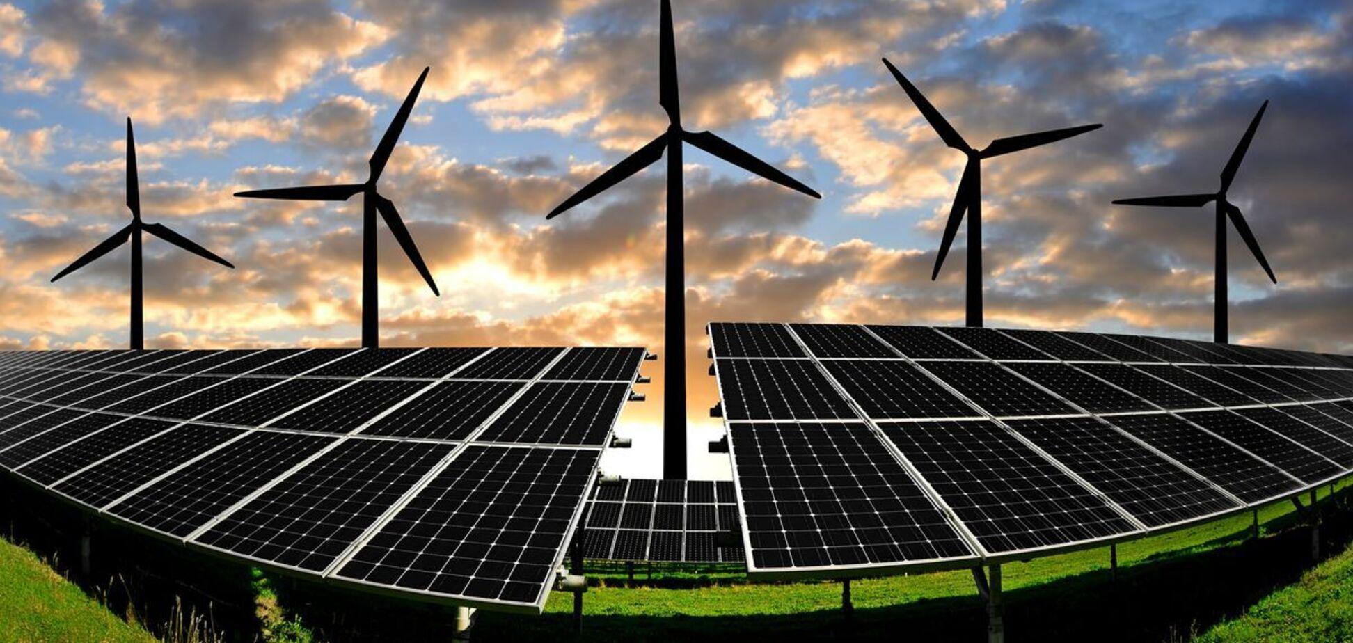 Частка відновлюваної енергії в Україні в серпні досягла 16,6% – Міненерго