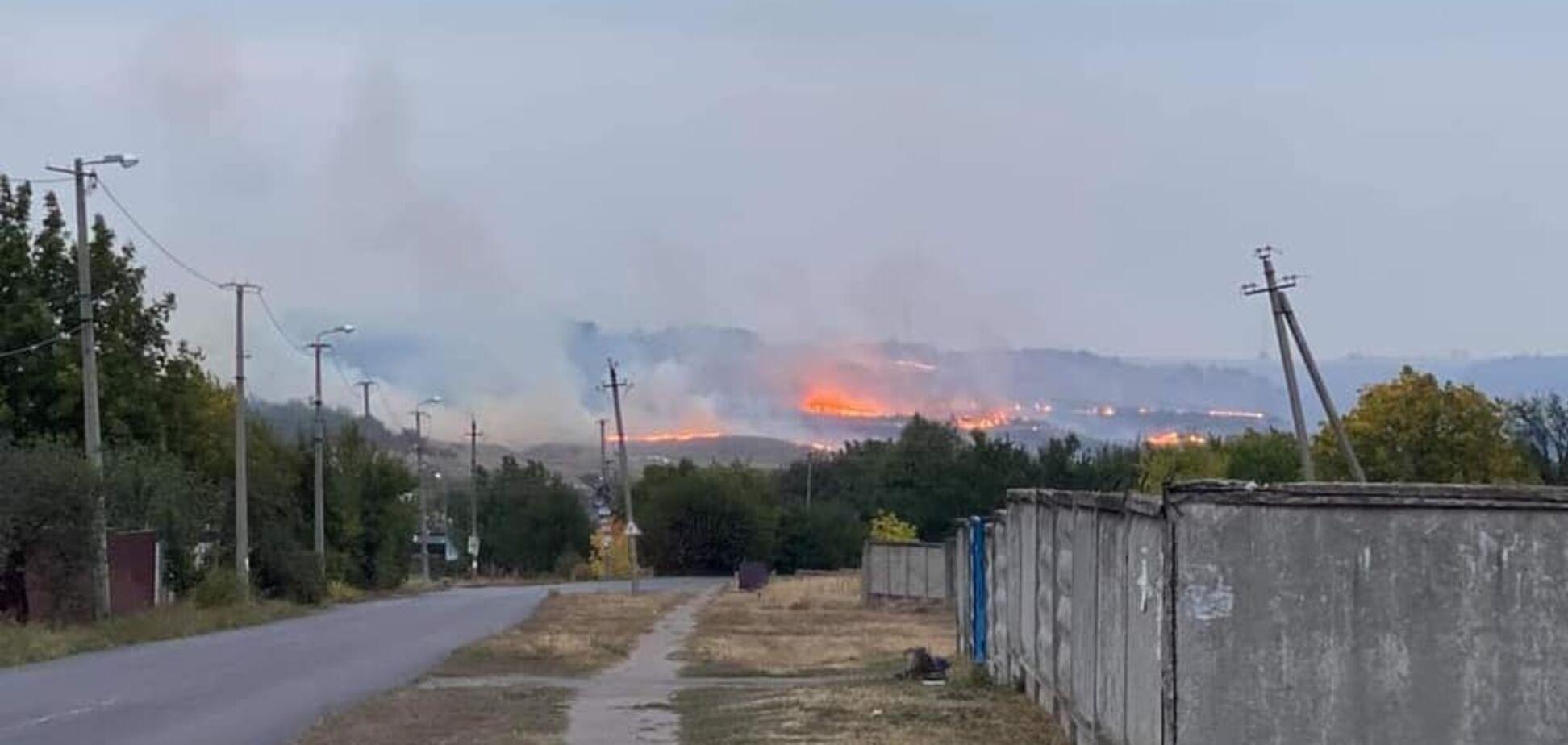 Лісова пожежа під Краматорськом