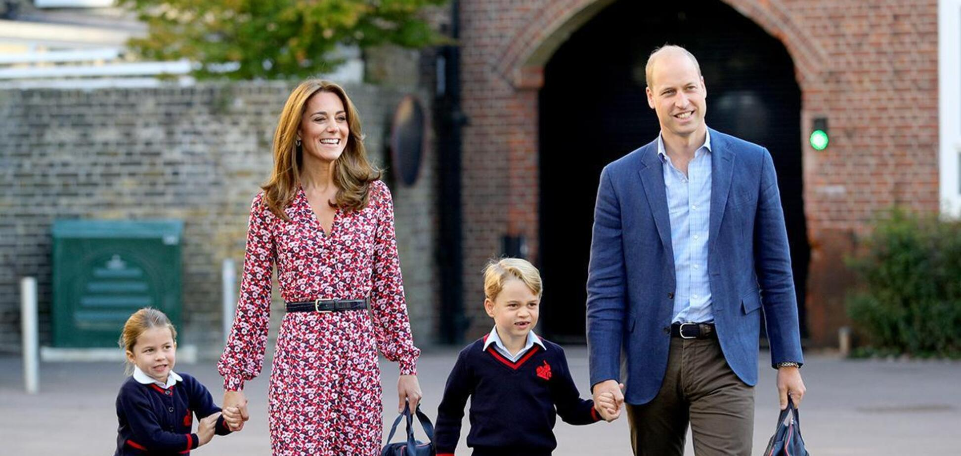 Принц Уильям и Кейт Миддлтон с детьми Джорджем и Шарлоттой