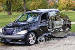 В Польше автомобиль Chrysler Cruiser с украинцами загорелся после ДТП