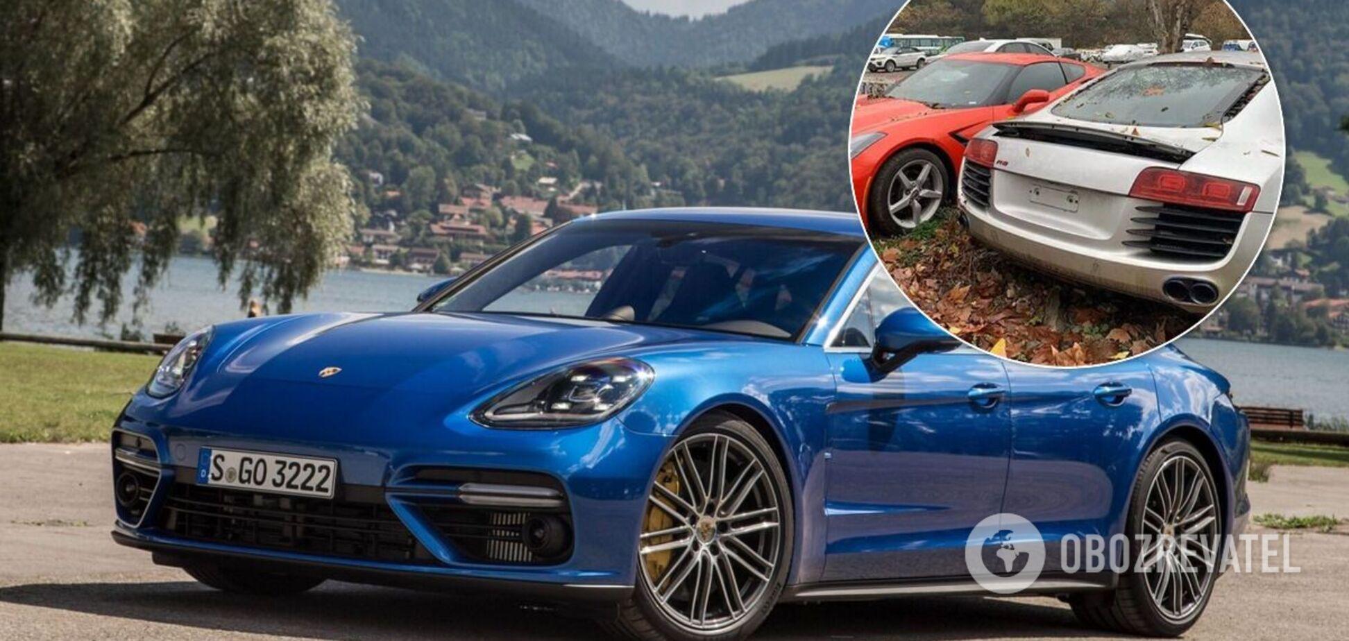 Знайдено звалище з майже новими Audi, Bentley і Porsche