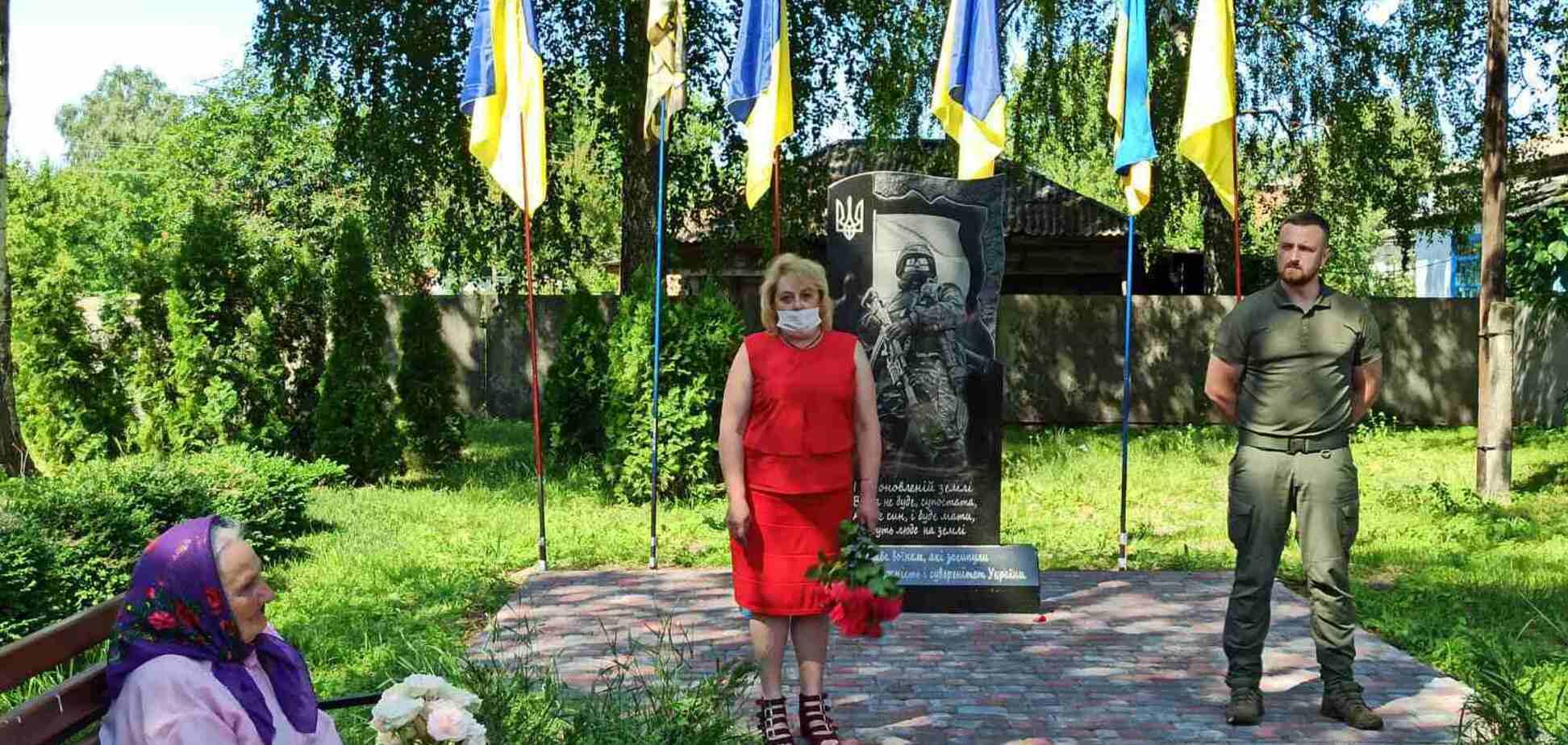 Мемориал погибшим воинам АТО в Талалаевке