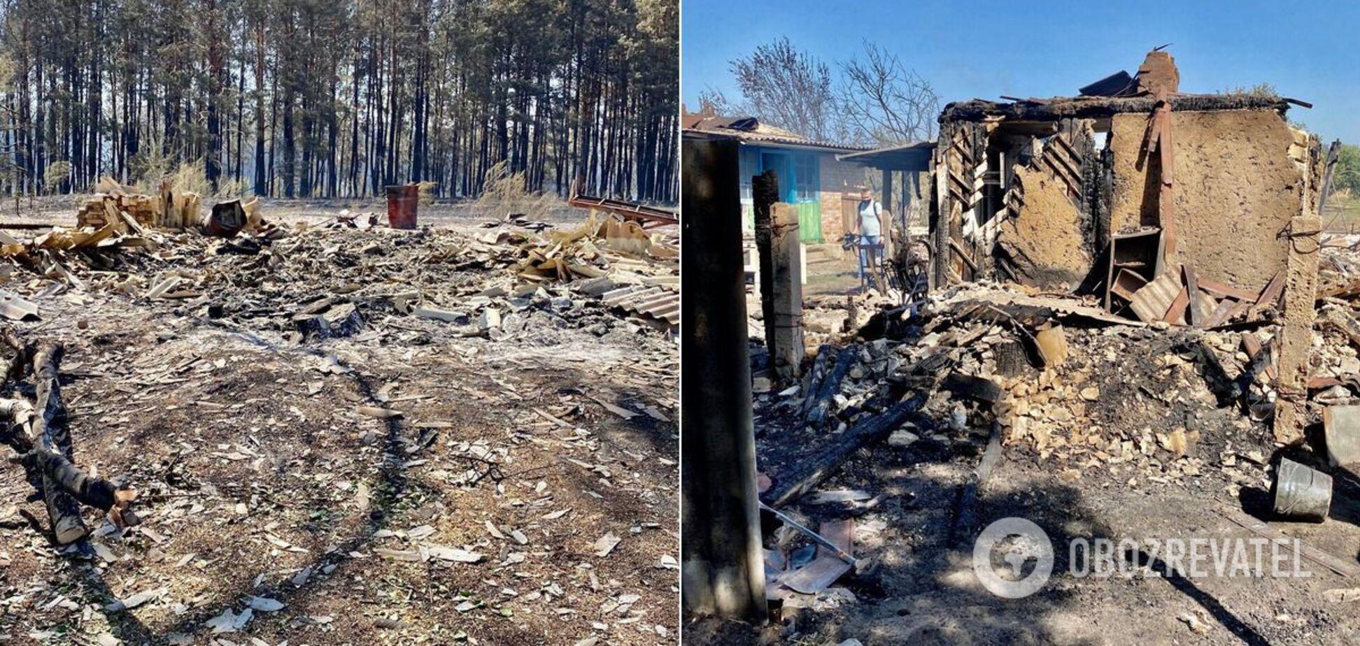Пожежі на Луганщині та Харківщині: що відбувається на місці НП. Фото та відео