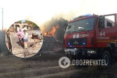 Последствия лесных пожаров в Харьковской области
