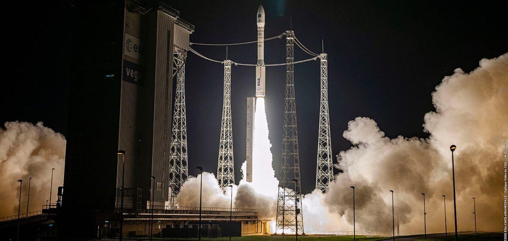 У Французькій Гвіані запустили в космос ракету з українським двигуном