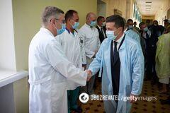 Владимир Зеленский и украинские врачи