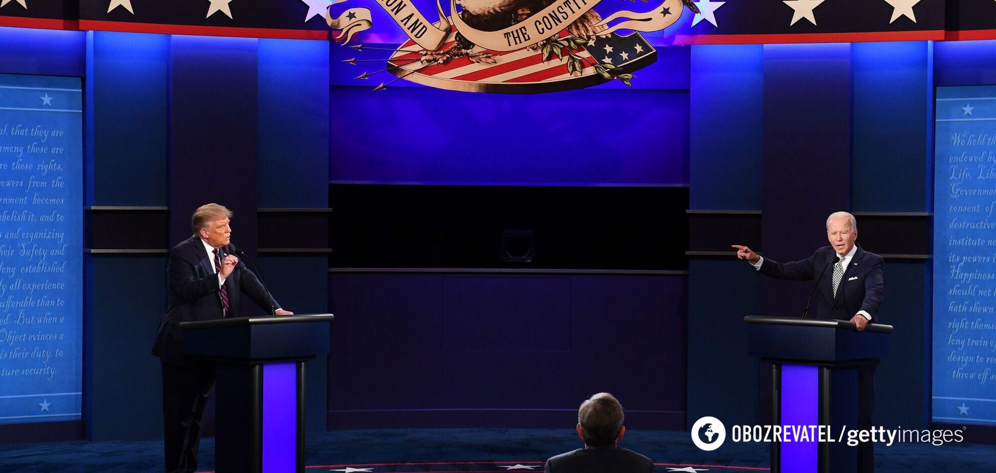 Дебаты между Дональдом Трампом и Джо Байденом