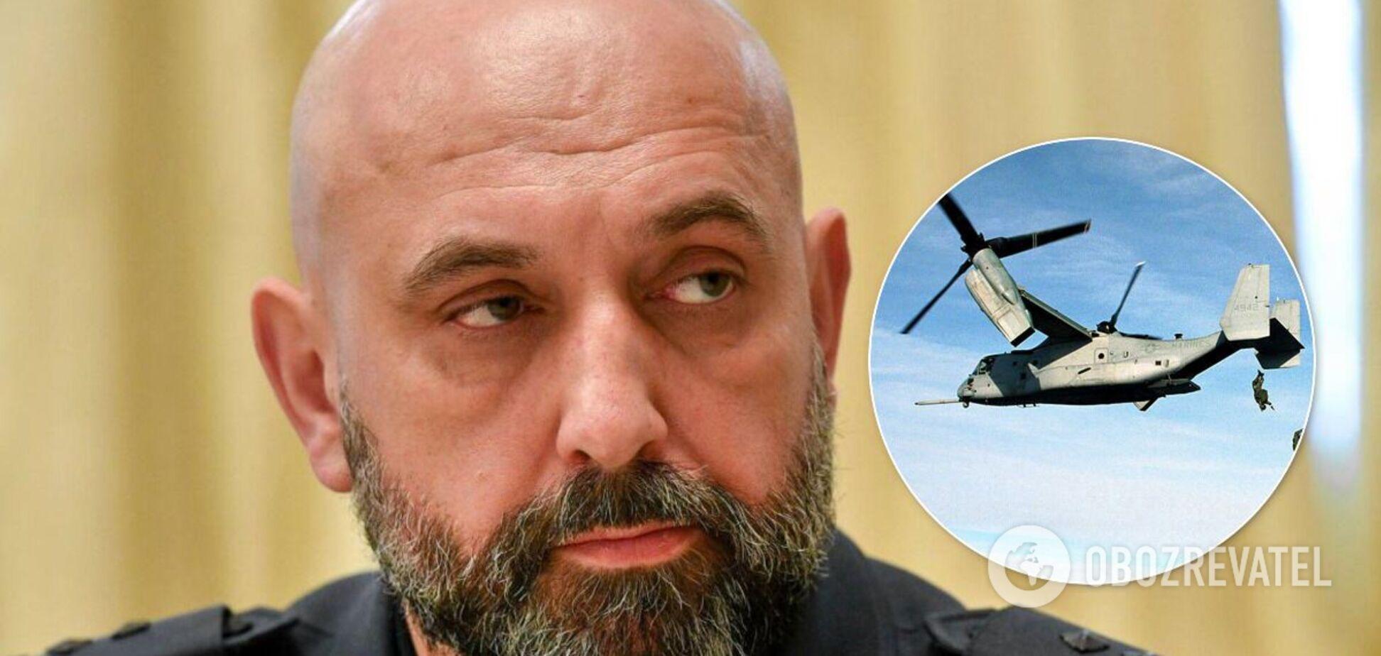 Сергій Кривонос пояснив реакцію Росії на Osprey над Києвом