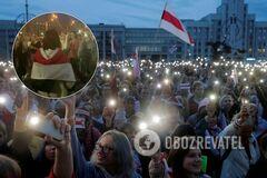 На протесте в Беларуси засняли голую женщину