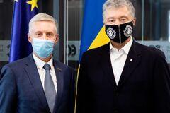 Порошенко встретился с послом Литвы в Украине. Фото: Европейская Солидарность