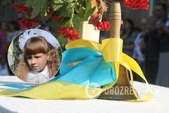 На Тернопольщине дочь погибшего Героя ВСУ Софию Руснак отвел в школу побратим отца
