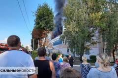 В Беларуси горела фабрика. Видео с места ЧП